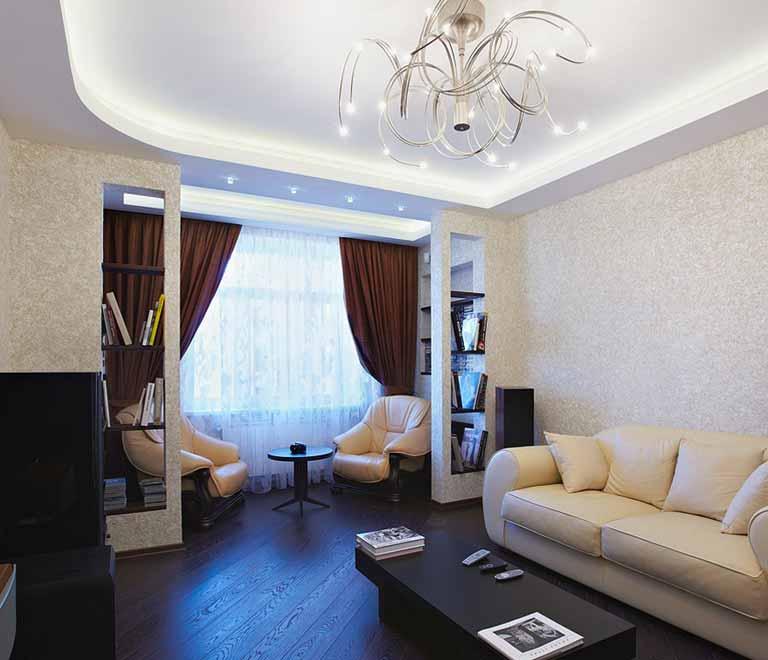 Пример ремонта гостинной в квартире