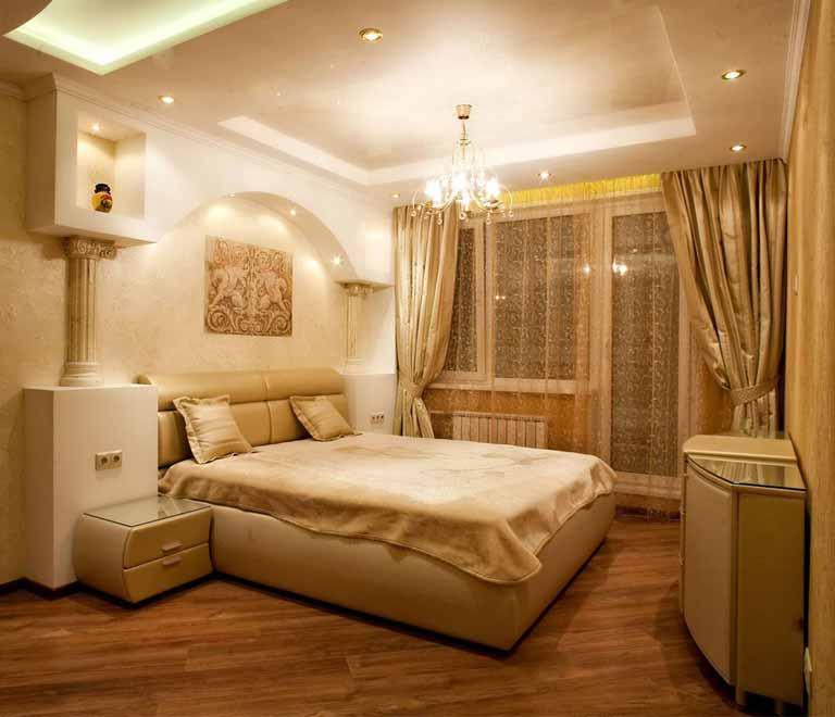 Пример ремонта спальной комнаты
